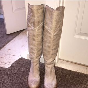 Frye Jane tall cuff motorcycle boots